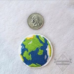 Earth Planet Iron on Patch